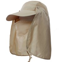 Wholesale Outdoor Men Unisex Fishing Military Hunting Sun UV protection Hat baseball Cap
