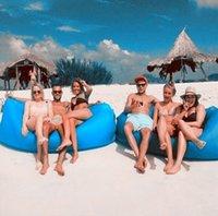 Wholesale 4pcs Aufblasbare Outdoor Indoor Air Schlafen Sofa Camping Strand Portable Möbel Keine kaisr Schlafen Wasserdicht Nylon Airbag