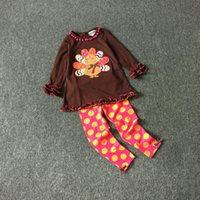 turkey - 6 Sets NEW M T Rare editions Halloween Colorful the Turkey long suit of the girls Dark brown shir dots pants Outfit