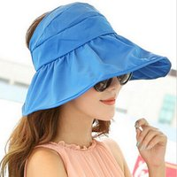Wholesale 2016 Summer Women s Wide Brim Beach Sun Hat Fashion Chapeu Feminino Foldable Cap