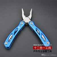 Wholesale 12 in multifunction folding tongs outdoor sport Pliers set screwdriver bottle opener knife awl hand tools personal survival kits