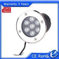 Wholesale 7W LED Underground Light RGB Buried Lighting Outdoor Floodlight RGB W R G B Y WW V V Warranty Years