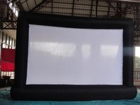 Wholesale 7 m Giant Inflatable Movie Screen Outdoor Inflatable Screen With Blower