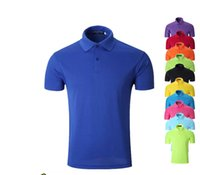 Wholesale Cheap Men And Women Polo Shirt Male Short Sleeved Summer Men s T Shirt Quick Drying Wicking Sports T Shirt