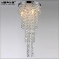 Wholesale 3 Lights Crystal Chandelier Long Size Lustre Light Bedroom Aisle Porch Lighting Hallway Cristal Lustre Suitable for LED Bulbs