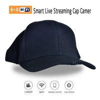 Wholesale DHL original Cap Live Camcorder H1 Wifi P Wearable Hidden outdoor Sport Hat Cap Live Video Camcorder DVR With Audio Function