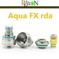 aqua base - New genesis design AQUA FX Atomizer FOOTOON RBA RDA RTA with two Glass tanks big capacity Ceramic base clone DHL FREE