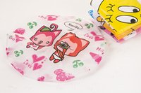 Wholesale 200Pcs Cute Household Super Cartoon Waterproof Shower Caps Women PVC Bath Spa Caps Elastic Hats DHL Free Ship