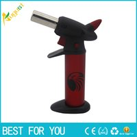 barbecue lights - Flamethrower butane Windproof lighters Barbecue gas jet lighters can adjust the flame Recycling Lighting a cigarette or cigar new hot