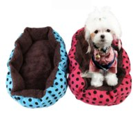 Wholesale Hot Sell Brand New Lovely Soft Flannel Pet Dog Puppy Cat Warm Plush Bed