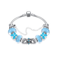 Wholesale New Design More colors Fashion sterling Dasies Glass Crystal European and American Charm Beads Fits Charm Bracelets