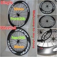 Wholesale Dimple Front mm wheels Rear mm wheels Made in China carbon wheels carbon fiber mm bike wheelset clincher tubular