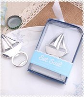 Wholesale Sailing Boat Bottle Opener Wedding Favor Gifts Beach Wedding Favor Wedding for Wedding Gifts Party Favors Supplies