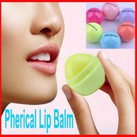 Wholesale Makeup Round candy color Moisturizer Moisturizing lip balm Natural Plant Sphere lips gloss Lipstick Fruit Embellish spherical