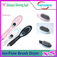 Wholesale 5pcs Ion Flow Brush Dryer Professional Ion Flow Brush Dryer health freedom promotes anion dry hair comb YX GF