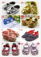 Wholesale 20 colors newborn baby month baby girl boy first walkers shoes