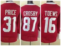 Wholesale 2016 Olympic Hockey Jerseys Crosby Hockey Jerseys Toews Weber Price White Red Olympic Games Hockey Jerseys Discount Sale