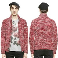 Wholesale Hommes Pulls Thick Cardigan Sweaters Mens Luxury IT Brand Sweaters Button Up Casual Winter Knit Wear