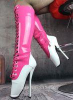 Wholesale Female Fetish Footwear inch cm Ultra High Heels Knee High Ballet Boots Shoes Plus Size Womens Sex Fetish Mistress