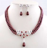 Wholesale The bride suit melange imitation pearl necklace jewelry The European and American fashion suits necklace jewelry