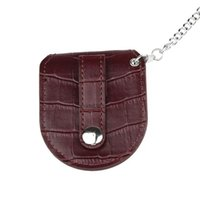 bag pocket watches - Fabulous Brown Bamboo pattern Pocket Watch Holder Box Coin Purse Bag With Chain