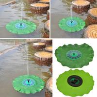 Wholesale 200L H Lift CM Simulation Lotus Leaf Fountain V DC Brushless Motor Solar Pump Pond Fountain Brushless Water Pump with Solar Panel