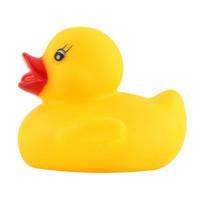 al por mayor bañera caucho de bebé-Al por mayor-divertidos juguetes de baño de bebé suaves del bebé de la tina de baño de juguete goma chirriante Ducky de seguridad animales de juguete