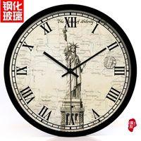 art eras - The European and American free goddess living room decoration fashion watch clock era art mute table
