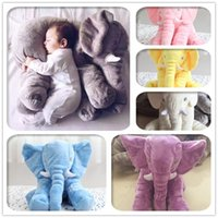 Wholesale Best Selling PC Big Elephant Throw Pillow Stuffed Plus Animals Toy Plush Toys Soft Material Help Baby Sleep High Quality Kids Toy
