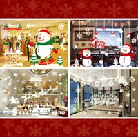 Wholesale The new Christmas decorations stickers Hotel restaurant store window glass stickers Christmas decorations window wall stickers