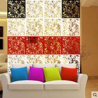 Wholesale 4PCS Hanging Screen Creative TV Setting Wall Art Paper cut Sitting Room Porch Partition European Contracted The Study on Sale