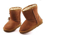 baby boots sheepskin - Hot sell New Real Australia High quality Kid Boys girls children baby warm snow boots Teenage Students Snow Winter boots