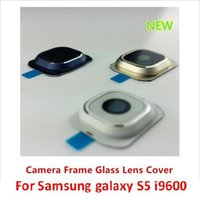 Wholesale 100 New OEM High Quality Camera Frame Glass Lens Cover Replacement Parts For Samsung Galaxy S4 S5 S6 EDGE i9600 G900 NOTE