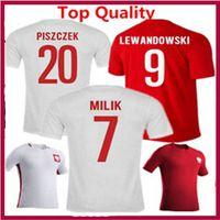 Wholesale New Stock Home White Away Soccer Jersey Red Polska Poland Koszulki football Lewandowski Piszczek Custom name