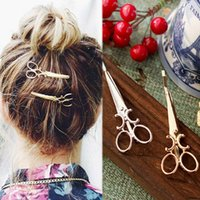 Wholesale 2PCS Fashion Scissors Shape Hair Clip Delicate Hair Pin Hair Decorations Jewelry