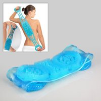 Wholesale Dual Sided Back Scrubber Belt Durable Soft Silicone Bath Tools Back Massager Clean Body Chopping Belt