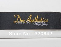 apparel tags and labels - sewing suppliers woven labels for clothings gold logo custom clothing labels and tags private cloth label