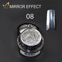 aluminium pigments - 2g bottle Aluminium Powder Mirror Effect Chrome Pigment Nail Glitters Nail Sequins For Nail Art