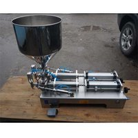 Wholesale Pneumatic filling machine ml cream paste dispensing liquid packaging equipment Stainless steel A02