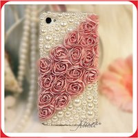 achat en gros de iphone accessories flower-Iphone 7 Case Luxury Rhinestone Diamond Flower Case Cover Accessoires pour Iphone 7 \ 7 plus \ Pro 6 \ 6S
