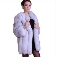 Wholesale Special Offer S XL New import European Fashion Winter Women Fur vest Luxurious High Quality artificial Fox Fur Coat