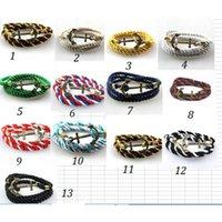 alloy adjustment - 2016 New Colors Adjustment Long Bracelets Men s Bracelet Weave Anchor Bracelet Gift Punk Long Bracelet for Men Unisex