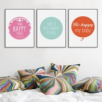baby life quotes - Minimalist Nordic Typography Happy Quotes A4 Art Print Poster Nursery Wall Picture Canvas Painting No Frame Home Baby Room Decor