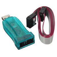 asp isp - Electric USB ASP USB ISP V AVR SCM Programmer Adapter Pin Cable Case ATMEGA8 ATMEGA128 For Arduino Support Win Bit