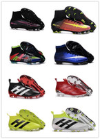 Wholesale Kids ACE Soccer Cleats PureControl Cheap Football Boots Mens Mercurial Superfly V FG Soccer Boots Cleats CR7 Superflys Football Shoes
