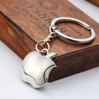 apple logo keychain - Apple Fans Keychain Metal Key Ring Apple Logo Key Holder Collector Zinc Alloy Fruit Pendants Simple Accessories Novelty