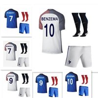Wholesale 2016Hot Sale Gelieziman the in France French blue shirt at home and away jerseys kit best fans clothing custom name