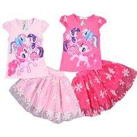 little girls clothing - Samgami Baby summer kids clothes sets t shirt skirt girl sets my little pony skirt set for girls summer clothing sets