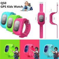 Locator Q50 Smart Kid Safe GPS Montre bracelet SOS Appel Location Finder Tracker pour bébé Cadeau Moniteur perdu Kid enfant Anti VS U8 DZ09 GT08
