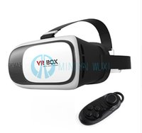 Wholesale VR BOX Cardboard Pro Version Virtual Reality D Glasses Smart Bluetooth Wireless Mouse Remote Control Gamepad